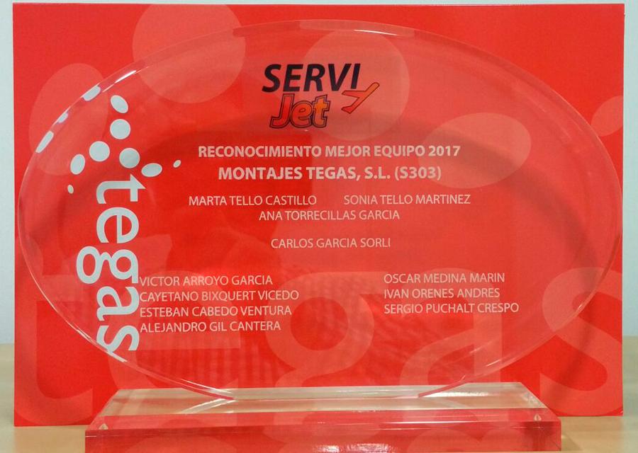 Premio mejor equipo de instalación de Gas Tegas
